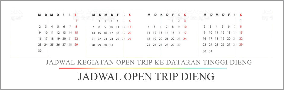 Jadwal open trip Dieng